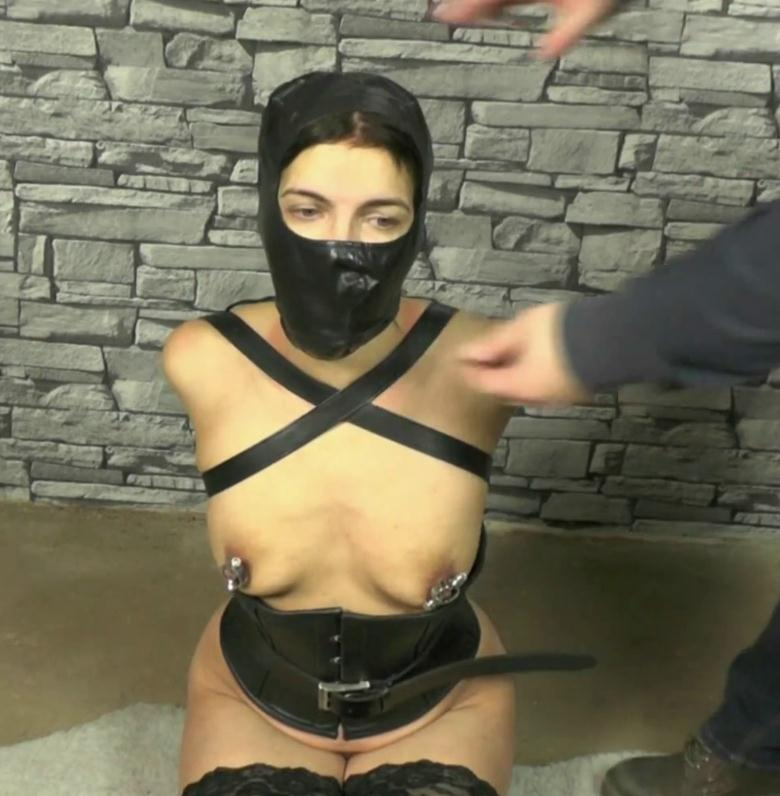 No Right To Speak, Leather Bondage for girl