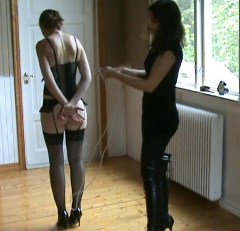 New tied up slavegirl under towel bounded with a rope by Juliette - A Gift For The Dominatrix