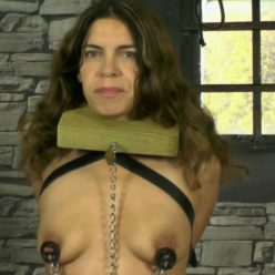Leather bondage - Slave bounded Juliette in mask and her Master - Preparing The Slavegirl