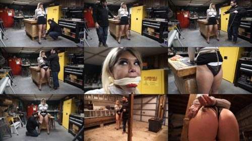 Investigative Reporter Carissa Montgomery gets into trouble, she was gagged and tied up