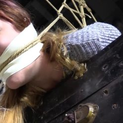 Ayla with gagged is waiting for hard female domination