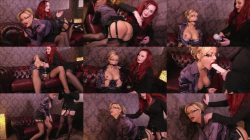 Just Think of the Charity! - Cuffed Jasmine Sinclair and her master  Morrigan Hel - Lesbian Bondage