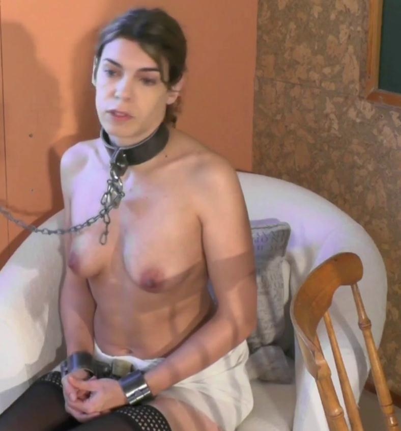 Cute Juliette is cuffed wiht heavy metal shackles and waiting for her punishment - Juliettes Punishment