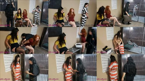 Arrested robbers Zoey, Tani and Sassy put metal waist chains and cuffs – Boozy Babes Part 2 of 2