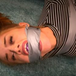 Taped Jasper Reed tightly with duct tape - Ambushed and tape tied - Female Bondage
