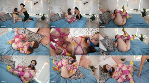 Sensual bondage - Helpless hippie girl Lauren Kiley is bound with ropes by  mommy Stella Liberty – Bad Hippie -Female domination