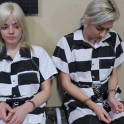 Serious trouble for prisonteens Violet and Daisy. Girls put leg iron,leg shackles,metal cuffs on – Naughty Schoolgirls Part 3 of 3