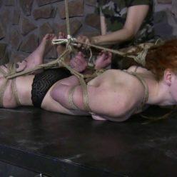 Super tight bondage - Bound Muriel LaRoja with super tight ropes - A new Hogtie challenge for Muriel LaRoja - Extreme Bondage
