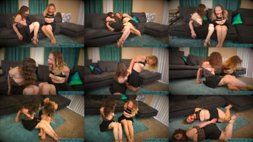 Girls let little guy play with rope and ballgags - Diamondly  and  Red strictly hogcuffed bondage plsy - Girl  European nannies tricked and tied