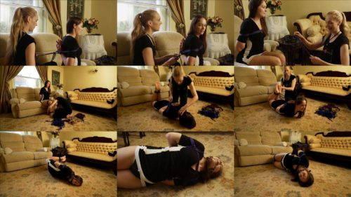Bondage modelling - Ariel Anderssen is tied and gets gagged with the biggest ballgag - Interviews Rachel Adams
