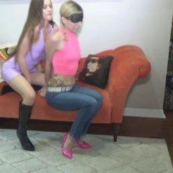 Sexy Dacey Harlot and Garnet Rose both handcuffed– Their girl girl bondage games went awry - Bondage play
