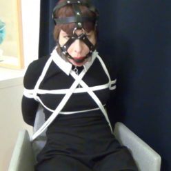 Self bondage - Lucia bound and gagged by herself - Rope bondage