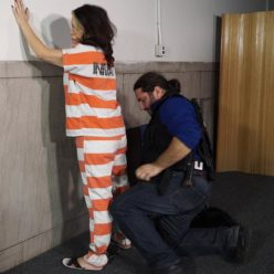 JJ Plush turns arrested and handcuffed in part 2 - Metal bondage