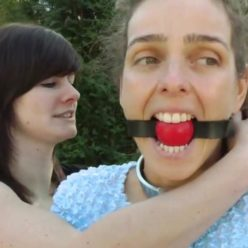 Take care of slave - Linda and Nadine L'Adoree – Slavegirl is delivered with collar and red ball gag