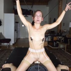 Breath control - Rope bondage - Tied Elise Graves tightly with ropes- Sybian Choke Predicament