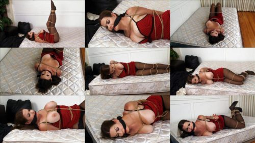 Busty bondage superstar Alexis Taylor is tied up and helpless - Rope bondage