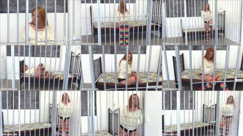 Straitjacket bondage - Girl asylum Kate Stardust in straitjacket into jail - Extreme bondage