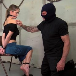 The Clever Captive: Radioing For Rescue - Chrissy Marie is bound