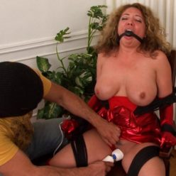 American Damsels Kiki D'aire – Lady Red's Humiliation - Lady Red is bound and ballgagged