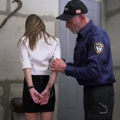 Chrissy Marie is arrested and weared hand cuffs - The seven month sentence - Cuffs bondage