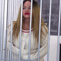 Straitjacket bondage - Girlasylum - Sexy Lisa Scott is straitjacketed in jail - Strict bondage