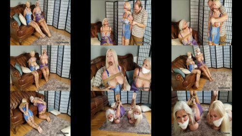 Sandra SIlvers and Amanda Foxx  get to enjoy ropes cruelly  and roped restrictions with a hogtie - Rope bondage