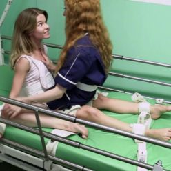 Female bondage - Nedda in segufix vs nurse Polina - Strict bondage