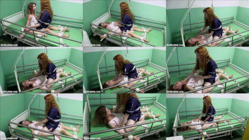 Female bondage - Nedda in segufix vs nurse Polina - Strict bondage