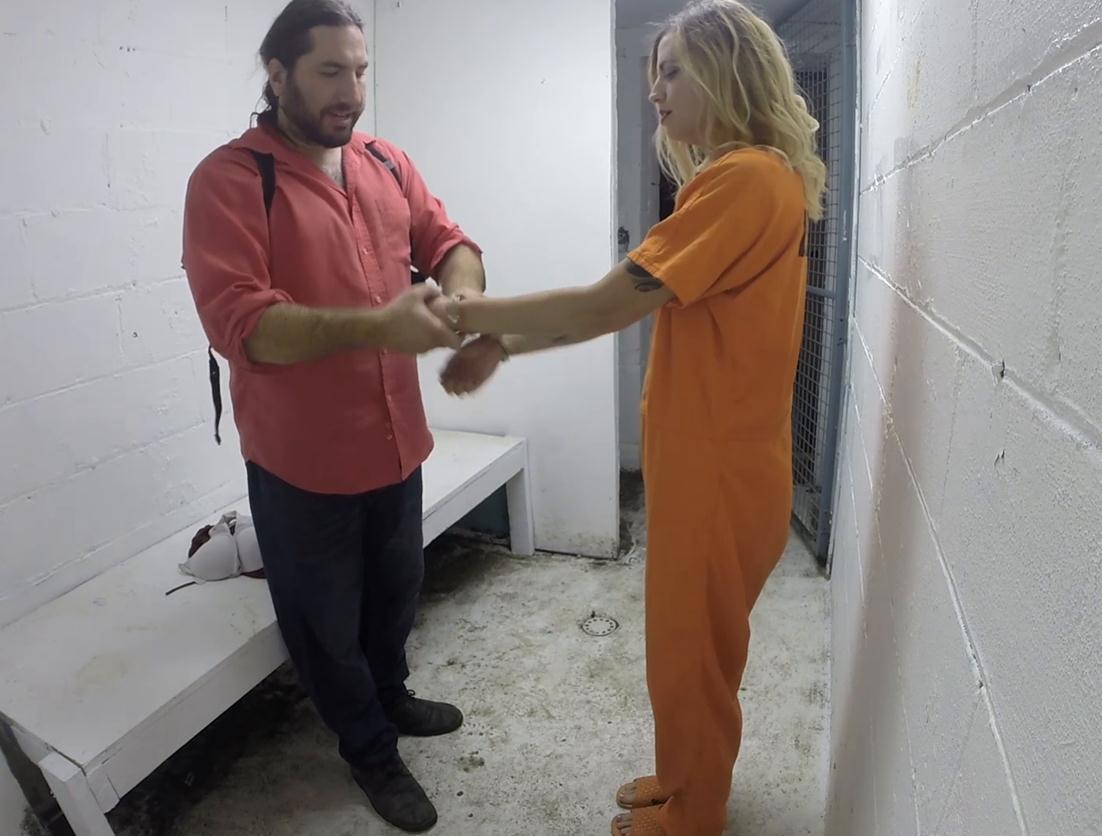 Got cuffs - Polly was brought in by van part 3 of 5 - Handcuffs bondage