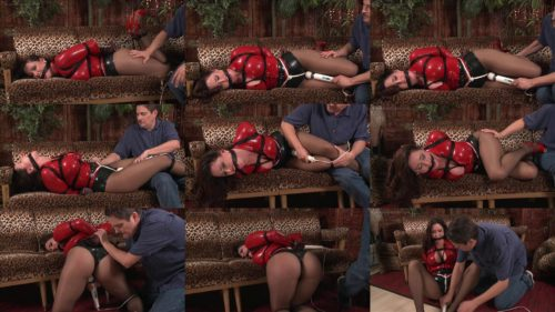 Rope Bondage - Put  Christina Carter in the infamous red latex shirt  with black rope – The was the Week Before Xmas