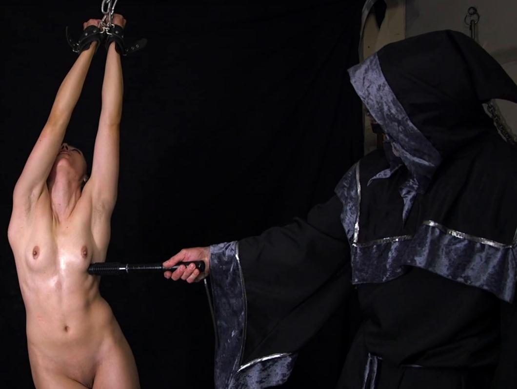 Khrystal AOH - Wonderstar is stretched and interrogated - Rope bondage