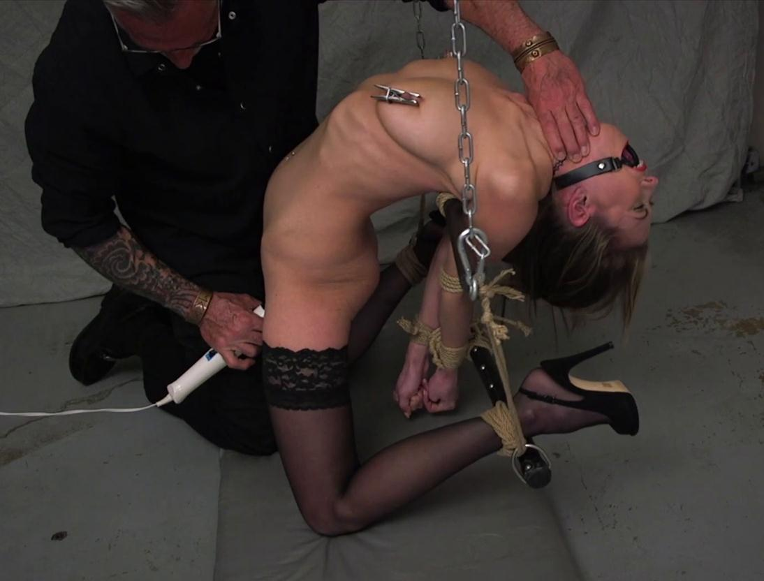 Bondage - Secretary Chrissy Marie is ready to be tied up and tortured -Slave For A Day HD