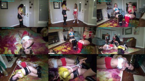 Rope bondage - Carmen Valentina, Nika Venom, Scarlet Venom, Gia Love – Four girl calamity