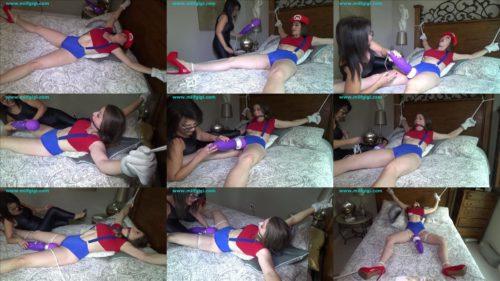 Super torment - Terra Mizu super orgasms for Super Mario - Female bondage