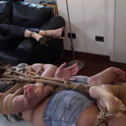 Lorna is tied up extremly and so helpless – The Training Session - Female bondage 1080p