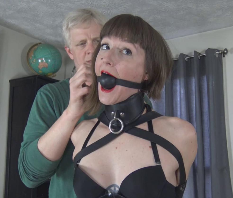 Leather Bondage - AJ Marion is bound and have captive predicament – Latex photoshoot gone wrong