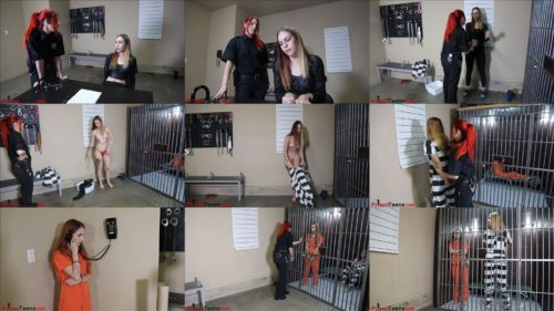 Prisonteens - Car Thieves  - Officer Jackie is arrested and handcuffed in jumpsuit - Part 3 of 3 - Prison bondage