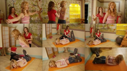 Aria Wednesday and Ariel Anderssen are tricked at the Gym! -Silly girls to let us tie them up with ropes