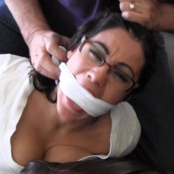 Rope bondage - Enchantress Sahrye GNDB0410 – Tying up his blackmailing step daughter - Sahrye struggle bound and gagged