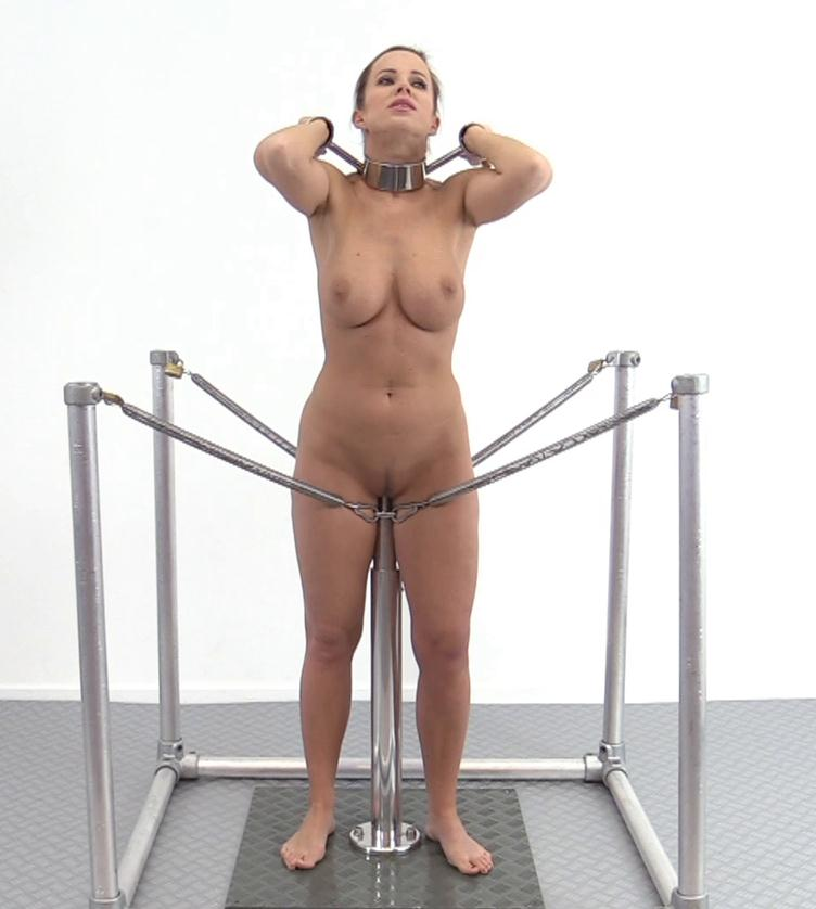 Metal bondage - Cindy Dollar - Spring action - One Bar Prison!