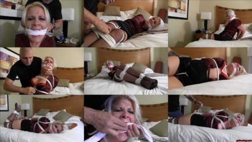 Whitney Morgan GNDB1040 – You're coming back with me - Whitney is  bound and gagged with white rope! - Rope bondage