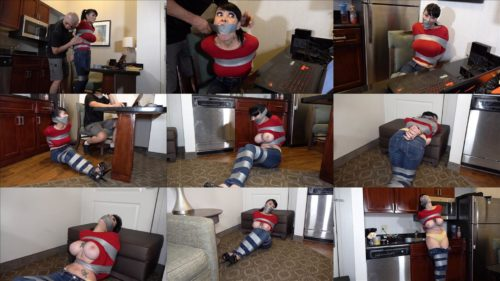 Rope bondage - Luna Dawn – After he got what he wanted, he taped me tight! GNDB0482