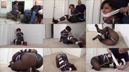 Rope bondage - Enchantress Sahrye GNDB1030 – Snooping detective is tied  in tight ball tie and gagged - Extreme bondage