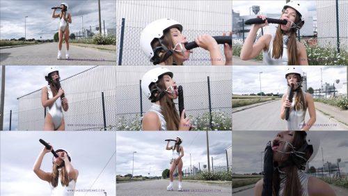 Gaggeddreams - Skater Girl Dia Katikus with dental gag - Public play