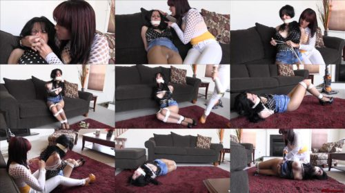 Hannah Perez GNDB1037 – I should just tie the dumb bitch up -Female bondage - Hannah is hogtied and gagged - The mistreatment