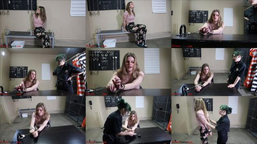 Metal bondage - Serendipity for Murder - Part 2 of 3 - Serendipity is handcuffed and arrested - Handcuffs bondage