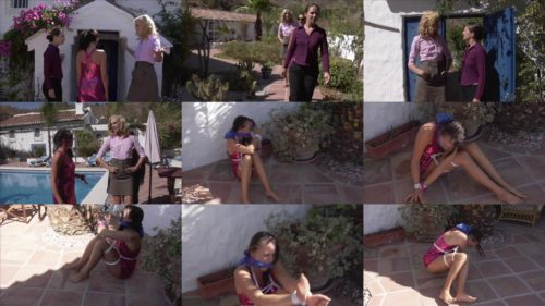 Ariel Anderssen, Sammie B and Elle Tyler – WAG - Sammie is tied up with ropes - Rope bondage