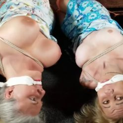 Rope bondage - Two MILFs Sandra Silvers ans Vivienne Taken quickly gagged and bound with ropes - Ride in the Truck Bed!
