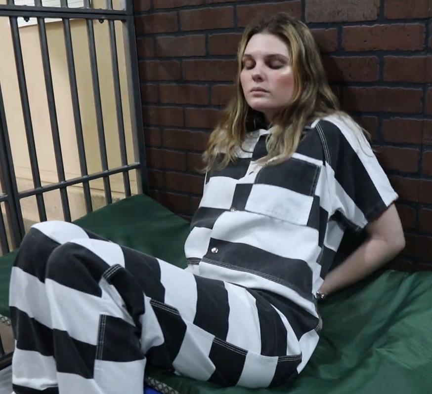 Metal bondage - Serendipity for Murder - Part 3 of 3 - Serendipity is handcuffed and arrested - Handcuffs bondage