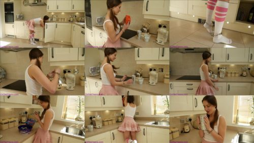 CuffedTeens  - Scarlot Rose is doing tea and cookies with cuffs - Bondage play - Handcuffs bondage